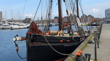 Historic sailing smack Excelsior visited Ipswich for day sails. Picture: EXCELSIOR TRUST