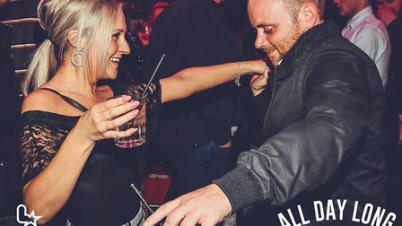 Party-goers enjoying themselves in Yates in Ipswich on Saturday April 13. Picture: LICKLIST