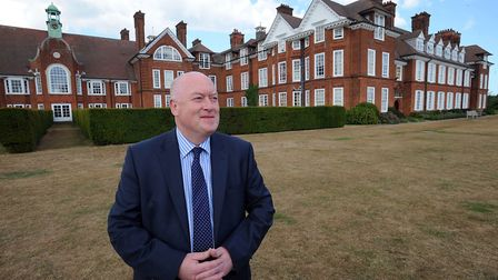 Dr Simon Letman pictured when he was headmaster of St Felix School in Southwold Picture: PHIL MORLEY
