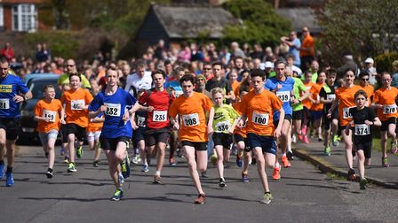 The Kesgrave 5k Fun Run will return on Sunday, May 6. Pictured is a previous event. Picture: GREGG B