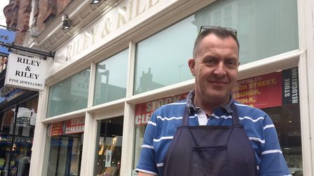 Riley & Riley is closing its Ipswich store after 15 years in the town. Pictured is owner Mark Riley.