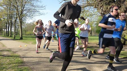A record breaking number of participants took part in the Ipswich parkrun on Saturday Picture: IPSWI
