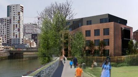Flats could be built behind the former Defiance pub in Ipswich. Picture: IBC