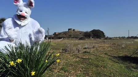 The Easter Bunny is out and about in Felixstowe today Picture: LUCY TAYLOR