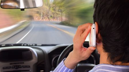 Anyone caught using a mobile phone behind the wheel faces a �200 fine and six points on their licenc