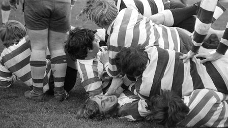 Felixstowe try to keep possession of the ball Picture: JOHN KERR