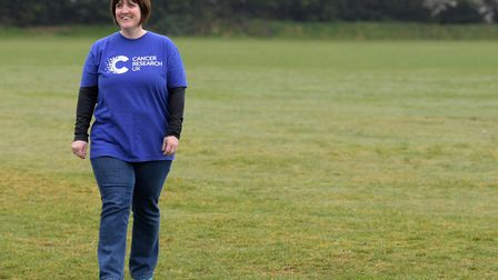 Pam Lugg, who is currently doing a series of fundraisers for Cancer Research UK, finds walking is a