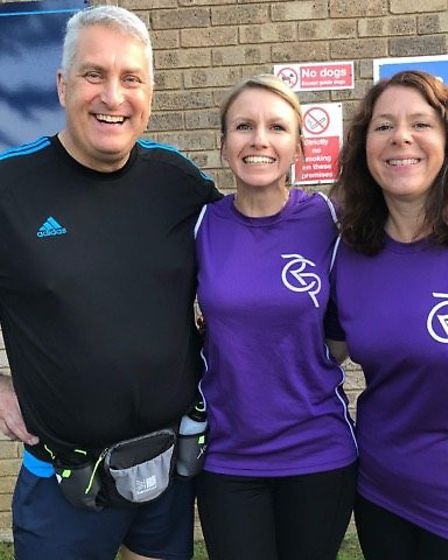 Ray left with some of his fellow Rushmere Community Runners Picture: RUSHMERE COMMUNITY RUNNERS
