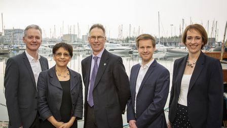 From left, Antony Sloan (Ashtons HR Consulting), Lina Hogg and Martin Hogg (Picasso HR), Tim Burrows