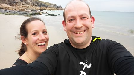 Chris is running the London Marathon to grant his late wife Angela's final wish. Picture: CHRIS ROSE