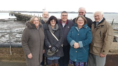 Board members of Save Shotley Pier group, who met with investors to talk about the latest plans for