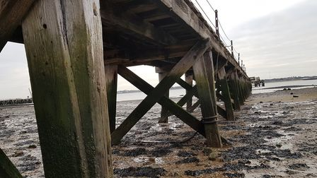 Shotley Pier's pilings need to be made safe before it can be fully opened for public use, a project