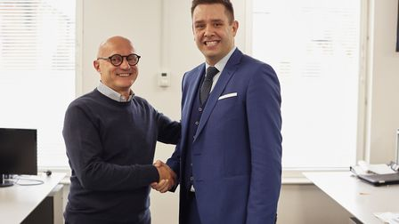 From left, Enrico Donati, executive chairman on Assist Digital, and Matthew Ellis, managing director