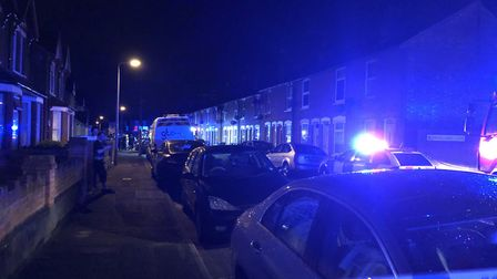 Emergency services were in Cullingham Road, in Ipswich, at the scene of a fire in a first floor flat
