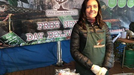 The Wild Game Meat stall is one of the most unusual on Ipswich Market, it can found near to Barclays