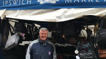 Mitch Lloyd has 30 years experience on Ipswich Market, he runs a bag stall Picture: SUZANNE DAY