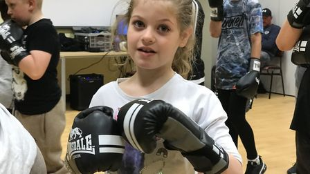 Children learn valuable lessons from the boxing sessions. Picture: Victoria Pertusa