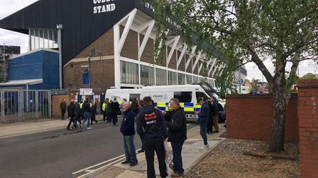 Police have warned fans to behave ahead of the Ipswich Town match against Leeds United Picture: ARCH
