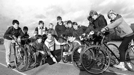 The thrills qand spills of cycle speedway racing at Northgate Picture: DAVID KINDRED