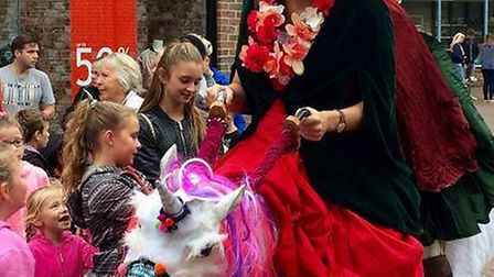 Children and unicorn fans will be able to interact with the much loved magical creatures this bank h