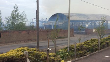 The former Fisons factory has been left gutted by the blaze Picture: JAMES CASTON