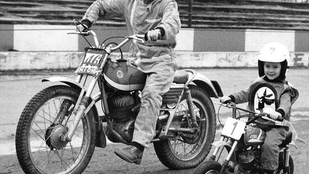 Chris Louis with dad John Louis, both legendary names at Ipswich Witches. Picture: ARCHANT