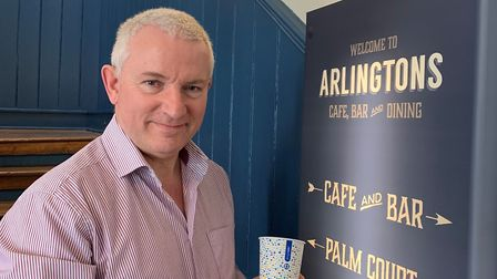 Peter Gwizdala, director of Arlingtons, is delighted to stock the Frugal Cup. Photo: Arlingtons