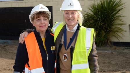 Maureen Reynel MBE and the High Sheriff of Suffolk, Roz Eminson at the new FIND foodbank site Pictu