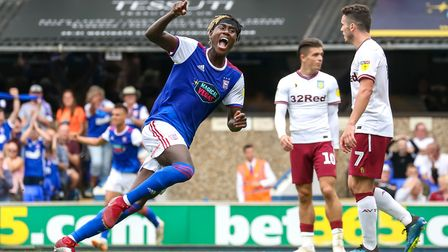 Trevoh Chalobah celebrates his goal to level the score at 1-1 against Aston Villa. Picture: STEVE WA