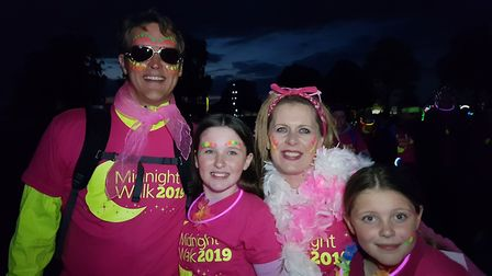 Two thousand people took part in the annual Midnight Walk Picture: RACHEL EDGE
