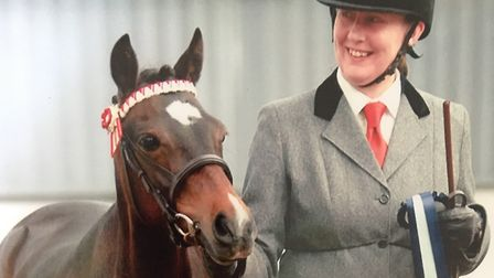 Julie Welham had, probably, eight horses over the years Picture: FAMILY COLLECTION