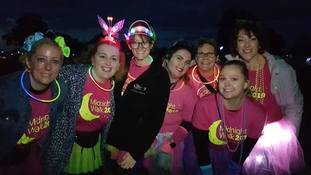 A sea of neon at the Midnight Walk 2019 Picture: RACHEL EDGE