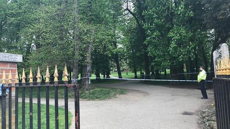 Police set up a cordon while investigations continued at the scene Picture: ARCHANT