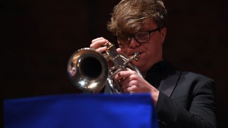 Alfie Buckley, Year 13 performing at Snape Maltings during Ipswich School's spring concert. Picture: