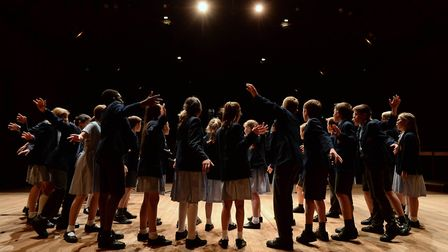 Ipswich Prep Chamber Choir performing at Snape Maltings during the school's spring concert. Picture:
