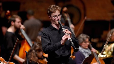 Oliver Pigram, Year 13, performing at Snape Maltings during Ipswich school's spring concert. Picture
