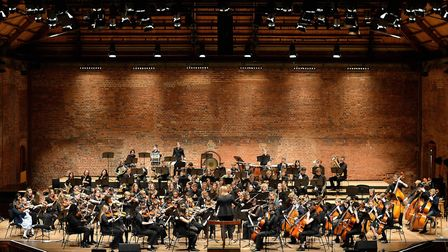 Ipswich School's Concert Orchestra and Symphony Orchestra performing at Snape Maltings during the sc