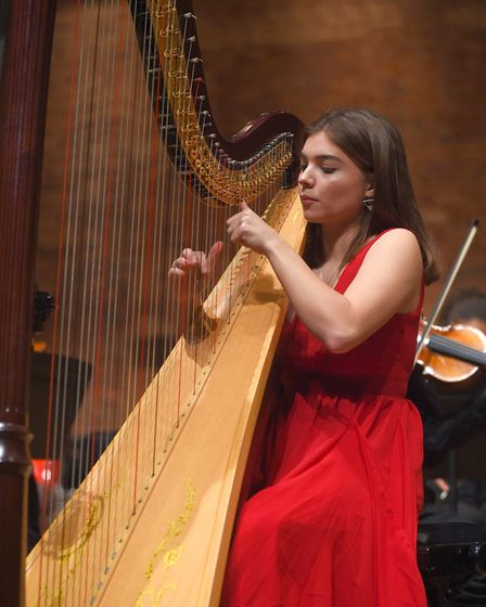Nadia Mason, Year 13, performing at Snape Maltings during Ipswich school's spring concert. Picture:
