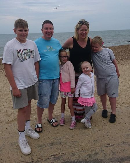Arabella Scannell pictured with her family. Picture: SCANNELL FAMILY