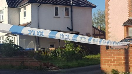 Police have shut Nacton Crescent after a stabbing on the Ipswich estate last night Picture: ARCHANT