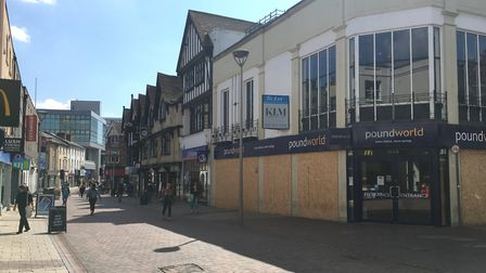 Concerns have been raised about Ipswich town centre following a series of shop closures. Photo: Arch
