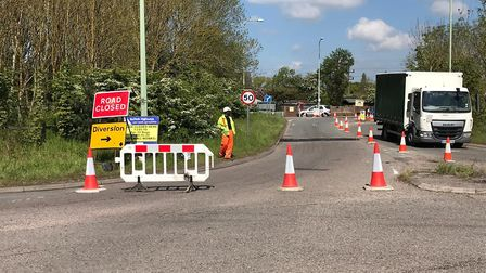 The roadworks in London Road which businesses claim are causing them to lose money Picture: AMANDA B