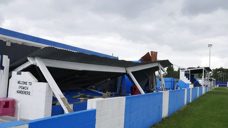 Ipswich Wanderers' ground pictured after the storm damage. Picture: JOE TOPPLE