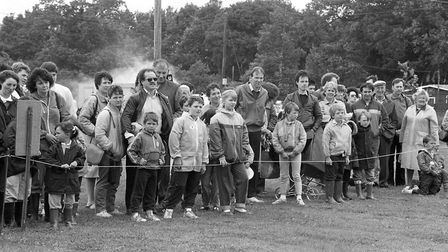 The Ipswich Firefighters Rally in Ipswich 1987, brought flocks of people looking to be entertained r