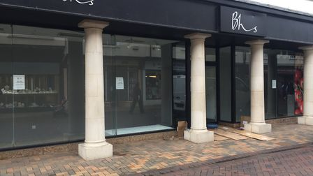 The empty BHS is one of a series of high-profile closures in the town in recent years. Picture: GEMM