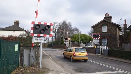 Westerfield level crossing is being rebuilt. Picture: GREGG BROWN