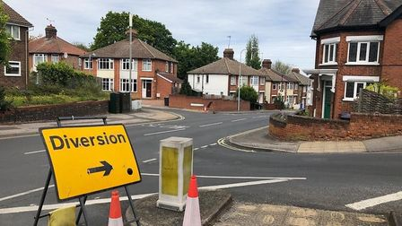 A diversion is in place becasue of the closure of Belstead Road. Picture: ARCHANT