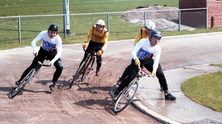 Action from the Ipswich Cycle Speedway team in a match against North Park Picture: DAVID KINDRED