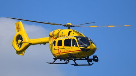 An East Anglian Air Ambulance also flew near to Henley Road, Ipswich, to treat a woman detained by p