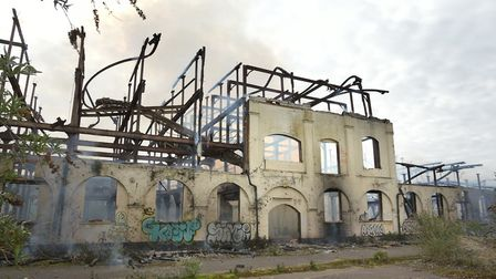New footage shows the extent of the damage at the former Fisons factory in Bramford Picture: SARAH L